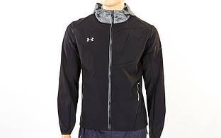 Ветровка ветрозащитная спортивная куртка для бега Under Armour 96601A-BK(L) (р-р L-48-50, черный)