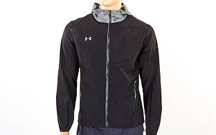 Ветровка ветрозащитная спортивная куртка для бега Under Armour 96601A-BK(XXL) (р-р XXL-52-54, черн)
