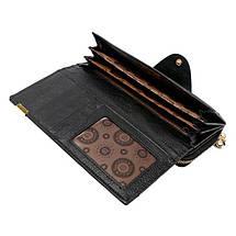 Женский кожаный кошелек. Красный, черный, фото 3
