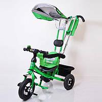 Дитячий триколісний велосипед Lexus Trike LEX-007 (10/8 AIR wheels), зелений, фото 1