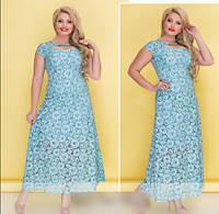 Летнее гипюровое платье, с 52-60 размер