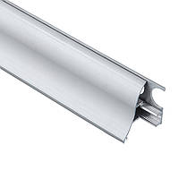 Плинтус алюминиевый со скрытым креплением 35мм. выгнутый