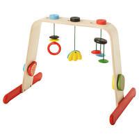 ЛЕКА Тренажер для младенца, береза, разноцветный 70108177 IKEA, ИКЕА, LEKA
