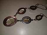 Кварц волосатик Волосы Венеры ожерелье с рутиловым кварцем в серебре, фото 2