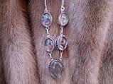 Кварц волосатик Волосы Венеры ожерелье с рутиловым кварцем в серебре, фото 4