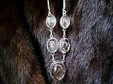 Кварц волосатик Волосы Венеры ожерелье с рутиловым кварцем в серебре, фото 5