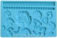 """Коврик для декорирования """"цветок"""" 20х12,5 см силикон Empire"""
