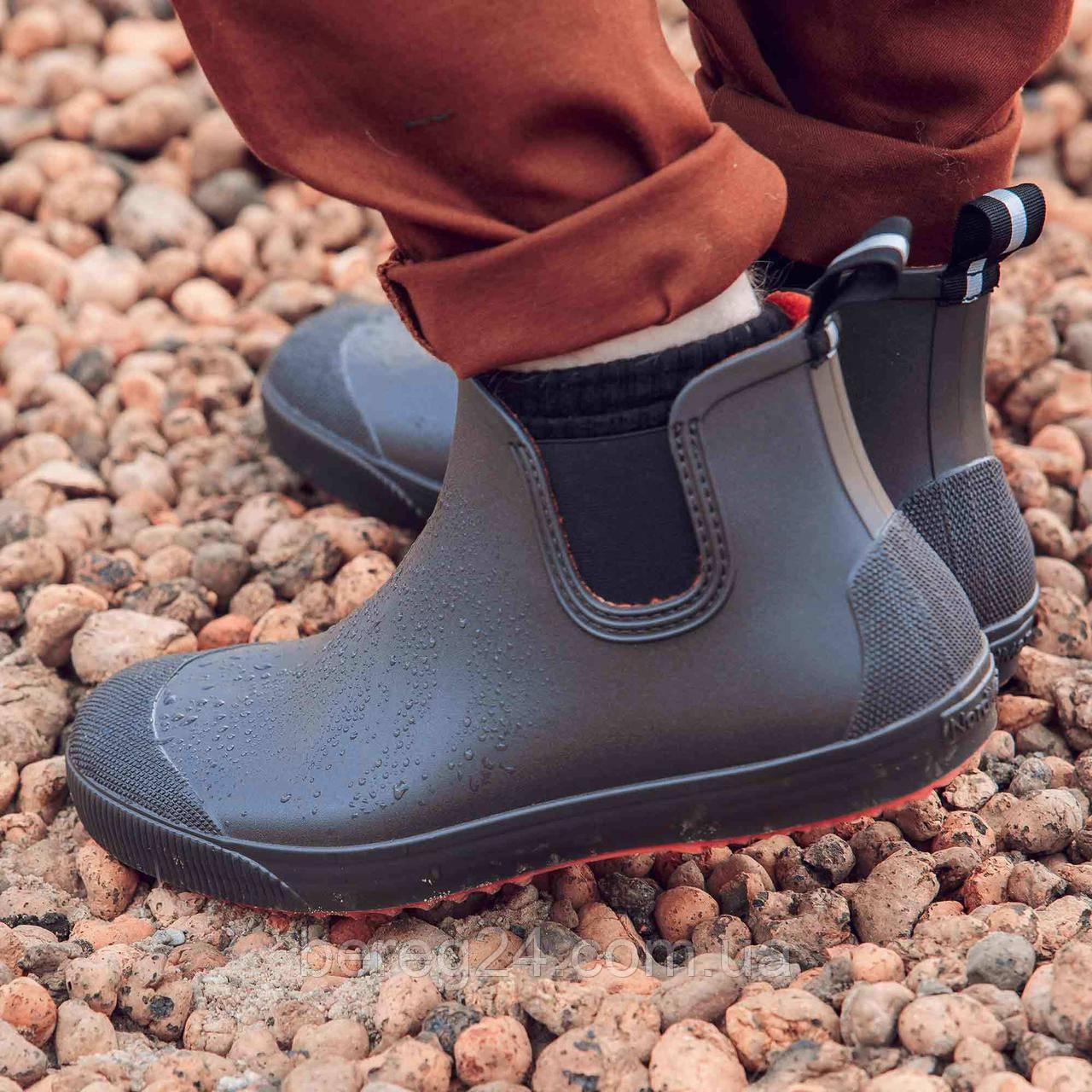 Мужские ботинки NordMan BEAT резиновые с эластичной вставкой коричневые размер 45