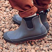 Мужские ботинки NordMan BEAT резиновые с эластичной вставкой коричневые размер 45, фото 1