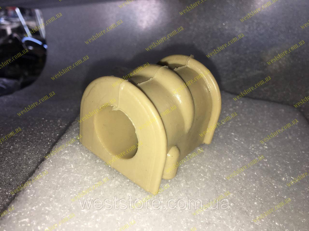 Втулка стабилизатора переднего с буртом (нового образца) Ланос Сенс Sens Lanos полиуретановая 96444926