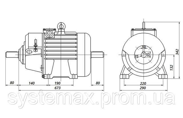 МТН 111-6 - IM1002 комбинированный (габаритные и установочные размеры)