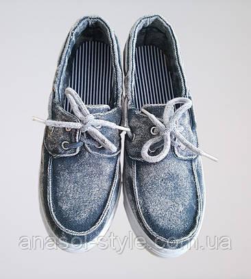 Слипоны   Cisst 60-2  джинс серые