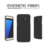 Пластиковая накладка Nillkin для Samsung G935F Galaxy S7 Edge Synthetic Fiber series /чехол для САМСУНГА галакси С7 эдж/935/