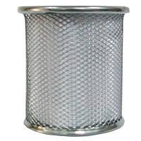 Стакан для ручек, металлический, круглый, серебряный, 562020