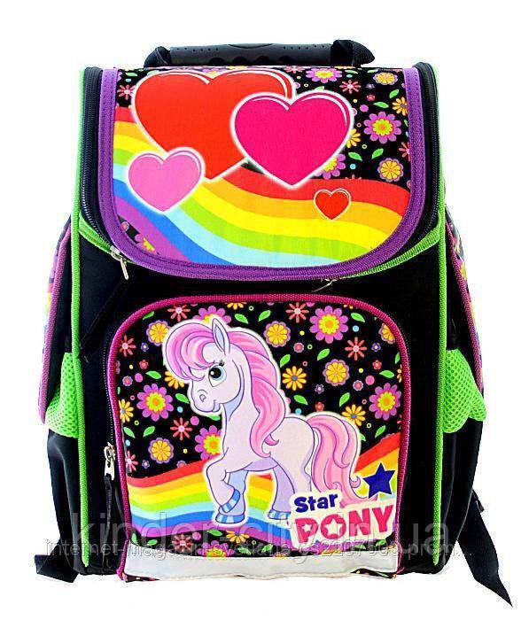 Рюкзак школьный каркасный Vombato 7819 Радужный Пони