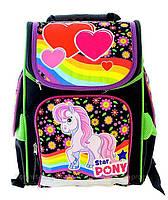 Рюкзак школьный каркасный Vombato 7819 Радужный Пони, фото 1