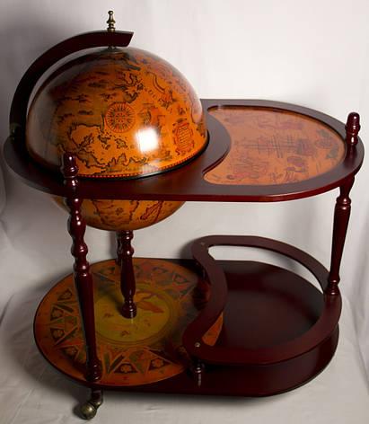 Глобус бар підлоговий зі столиком 42004 R, фото 2