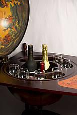 Глобус бар підлоговий зі столиком 42004 R, фото 3