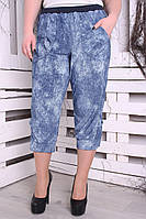 Капри женские большого размера Джинс new, фото 1