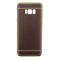 Накладка с имитацией кожи для Samsung G950 Galaxy S8 /чехол для САМСУНГА галакси С8/950/