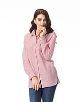 Стильная женская рубашка в полоску. К090