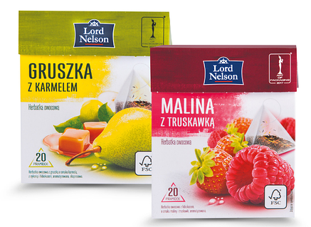 Чай Lord Nelson Gruska z karmelem 20 пакетиков, фото 2