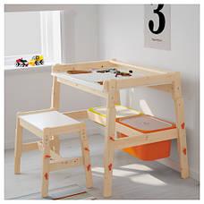 ФЛИСАТ Детский письменный стол, регулируемый 20273594 IKEA, ИКЕА, FLISAT, фото 3