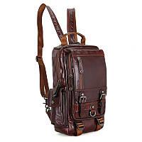 Кожаный повседневный рюкзак 2002С, фото 1