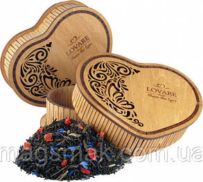 Чай в деревянной шкатулке Lovare Share the Love 60 г, фото 2