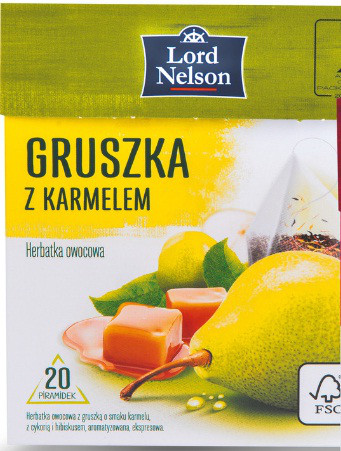 Чай Lord Nelson Gruska z karmelem 20 пакетиков