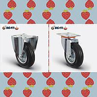 Комплект Акция колесо неповоротное, на черной резине 150мм 2шт + колесо поворотное, на черной резине 150мм 2шт
