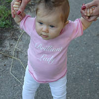 Трикотажная футболка Brilliant Lady (розовая)