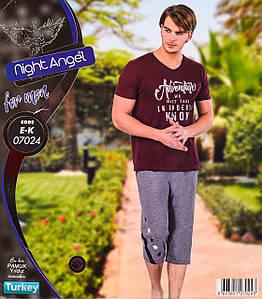 Комплект летний 2-ка футболка с капри Турция. Night Angel 07024. Размер  M/L.