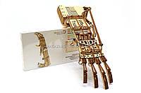 Деревянный механический конструктор Wood Trick Рука.Техника сборки - 3d пазл