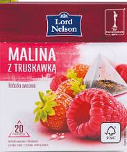 Чай  Lord Nelson malina z truskawka 20 пакетов