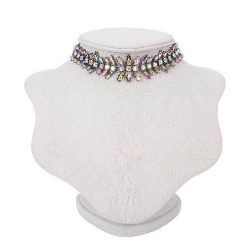 Колье-чокер Цветные кристаллы