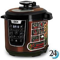 Мультиварка DEX DPC 61 Bronze, скороварка на 5 литров, 17 программ, декс