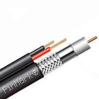 Абонентский коаксиальный кабель FinMark F5967BV-2x0.75 POWER black с дополнительными токоведущими проводниками