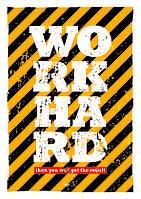 Плакат Постер Work Hard