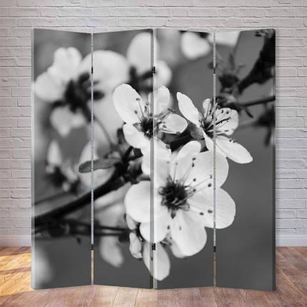 """Ширма """"Черно-белый цветок вишни"""", фото 2"""