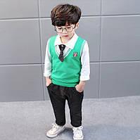 Костюм для мальчика штаны рубашка с галстуком жилетка