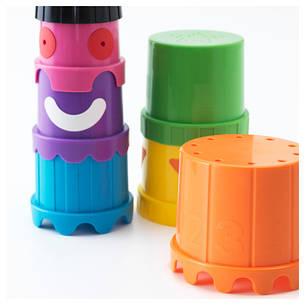 МУЛА Стаканчики, детская пирамидка, разные цвета 60294877 IKEA, ИКЕА, MULA, фото 2