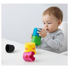 МУЛА Стаканчики, детская пирамидка, разные цвета 60294877 IKEA, ИКЕА, MULA, фото 3