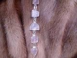 Красивый браслет - розовый кварц в серебре. Браслет с розовым кварцем., фото 3