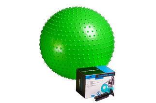 Мяч для фитнеса массажный (фитбол) PowerPlay 4002 d-65см +  насос