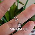 Кольцо на фалангу серебряное - Фаланговые кольца серебро, фото 4