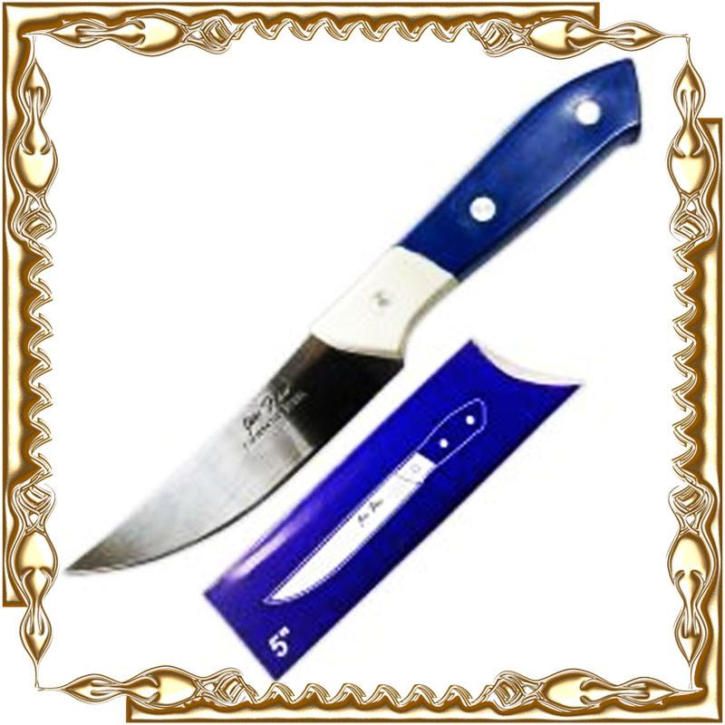 Нож кухонный с пластм. синей ручк. № К-05