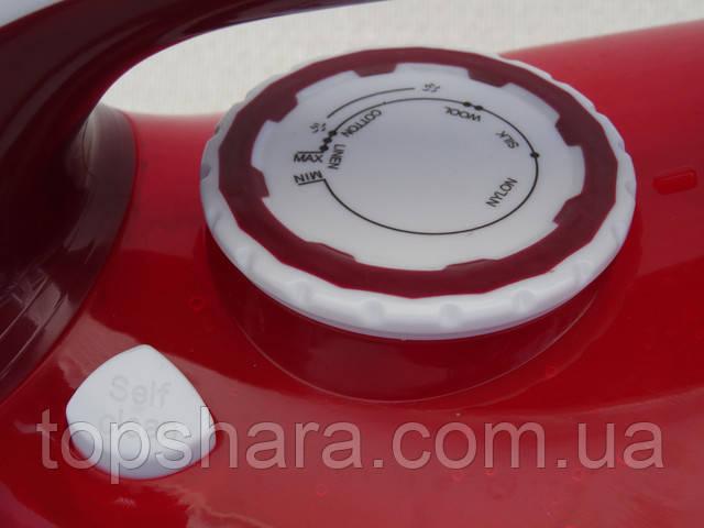 Утюг Domotec MS-2298 керамика Steam Iron 2200вт, красный