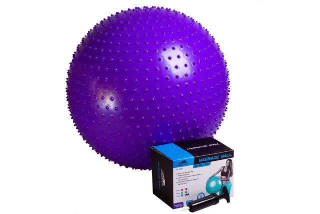 М'яч для фітнесу масажний (фітбол) PowerPlay 4002 d-75см + насос