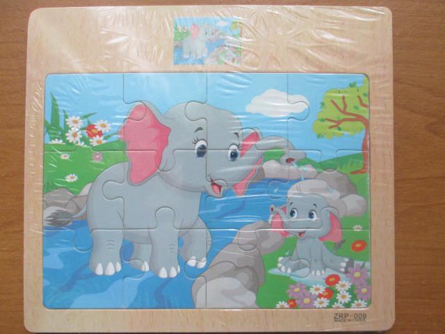 Пазл на 12 элементов Слониха с малышом